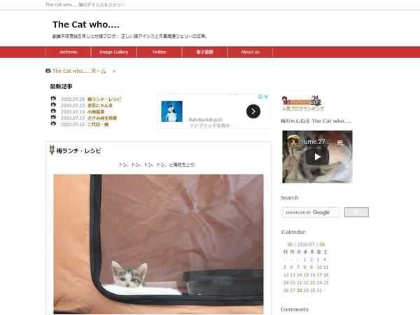 The Cat who…. 猫のアイシス&ジェリー